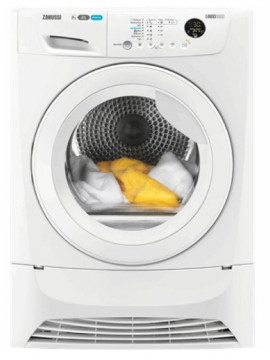 Warmtepompdroger huren: Zanussi ZDH8333W